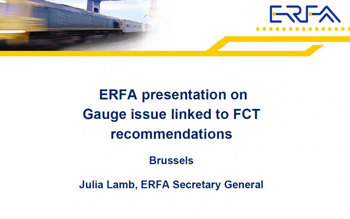 ERFA presentation on Gauge issue linked to FCT recommendations